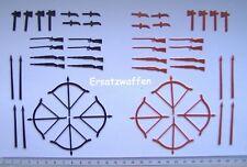 Ersatz-Waffen (48 teilig) für DDR Indianer / Cowboys <> Sehr gesucht !