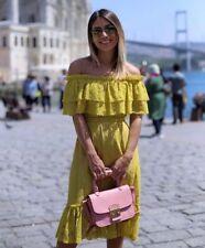 Zara Lace Dress With Ruffled Neckline Size M