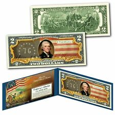 BENNINGTON FLAG The Spirit of 1776 - USA Vintage Flag Series $2 U.S. Bill w/COA