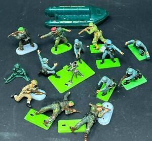 Britains Ltd Deetail WW2 German Mortar - Soldiers - Die Cast - Plastic Lot