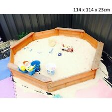 Kids Sandbox in Wooden Octagon Design with Cover Sandpit