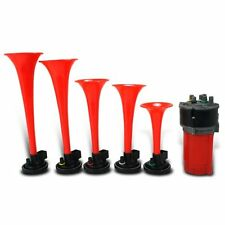 NEVER ON SUNDAY MUSICAL AIR HORN KIT 5 Trumpets 12v Compressor ALPEX