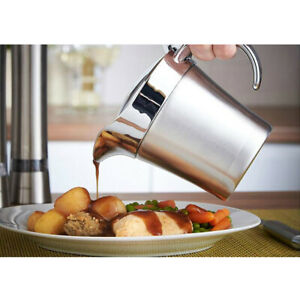 Thermal Gravy Boat Double Wall Sauce Serving Jug Pourer with Lid 450ml