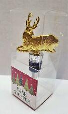 """New Brass Wine Stopper Christmas Deer 4.5"""""""