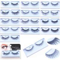 Fashion Style False Eyelash 100% Human Hair Handmade Fake Eye Lashes Black