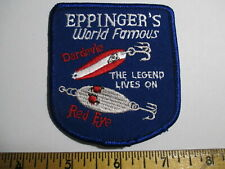 Eppinger's World Famous Dardevle Red Eye Lives Fishing Lures Vintage Patch NOS