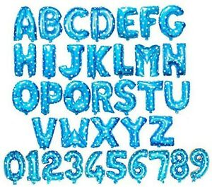 """16"""" Alphabet Letter Number Foil Balloon NAME PARTY WEDDING Gold Silver Blue Pink"""
