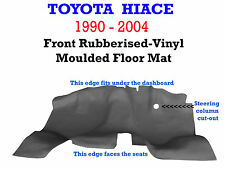 To suit Toyota Hiace 1990 - 2004 Moulded Rubber Vinyl Front floor