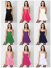 Womens Colours American Party Apparel Style Nylon Tricot Figure Skater Dress