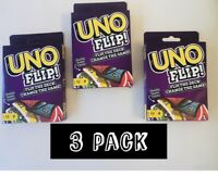 UNO  Card Game (3 PaCk) Double Sided Card Game for 2-10 Free Shipping Same Day