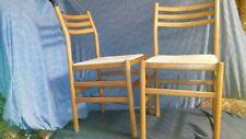 MID CENTURY DANISH MODERN POUL VOLTHER /SORO STOLEFABRIK RUSH SEAT DINING CHAIRS