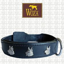 Premium Dog Collar WOZA German Shepherd Saddlery-sewn Cow's Napa Leather 341
