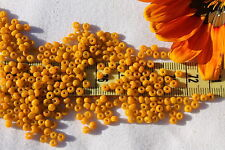 8/0 Old Time German Pumpkin Glass Seed Beads Crafts Jewelry Making  /1oz