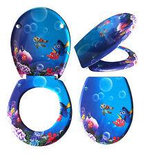 WC Sitz Toilettendeckel Absenkautomatik Klobrille Unterwasser Fisch Korallenriff