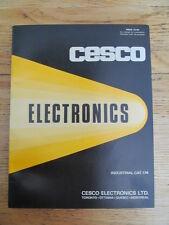 Cesco Electronics Industrial catalogue 174 Tubes Resistors Connectors Tools