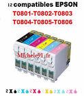 Cartouches d'encre T0807 non OEM compatibles pour imprimantes Epson Stylus Photo