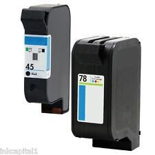 45 & 78 Ink Cartridges Non-OEM Alternative For HP Photosmart 51645AE C6578AE