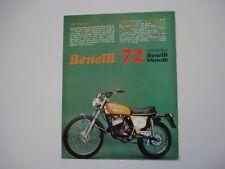 advertising Pubblicità 1972 MOTO BENELLI 125 CROSS