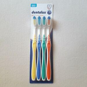 Dentalux Toothbrushes Pack Of 4 units Basic - Medium