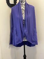 Lululemon To And Flow Wrap Iris Flower Purple Stretch Cocoon Oversized 6 $138
