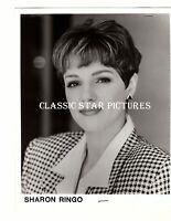 CC29 Sharon Ringo close up head shot with resume stapled top & bottom 8x10 photo