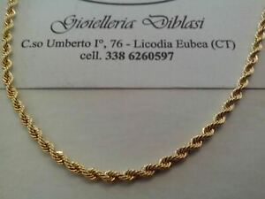 HALSKETTE IN GELBGOLD 18 KARAT Gold 750% Made In Italy