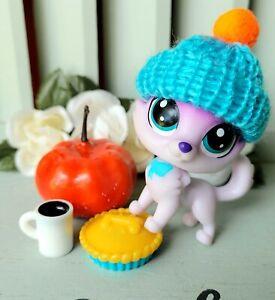Littlest Pet Shop Bixbie Fortune Cookie Lucky Purple Husky Dog No# Blue Eyes LPS