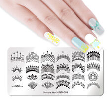 NICOLE DIARY Nail Art Stamping Plates Stamp Templates Lace Necklace Flower Leaf