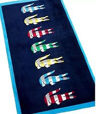 Beautiful Beach Pool Towel 100% Cotton Lacoste Croco Iconic Logo New 36x72""