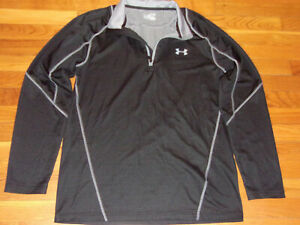 UNDER ARMOUR COLDGEAR 1/2 ZIP LONG SLEEVE BLACK FITTED PULLOVER MENS XL EXC.