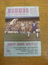 02/12/1980 West Ham United V TOTTENHAM HOTSPUR Football League Cup []. a meno che non pr