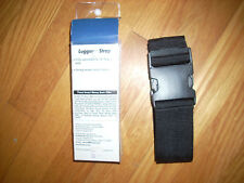 "NEW TRAVEL LUGGAGE STRAP Blk Misses Mens Adjusts to 72"" M L XL NWT!"