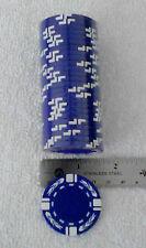 Blank Poker/Casino chips, 25 pk roll, BLUE, white stripe w/Flames FREE SHIPPING