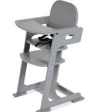 Baby Highchair Feeding Chair wooden with Safety Straps Fully Adjustable