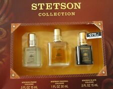 4=3+1 NEW : STETSON COLLECTION By COTY Men's 3 Cologne Gift Set +1 KENNETH VIAL