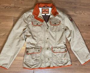 Ladies Small HorseWare Ireland Khaki Barn Jacket Coat