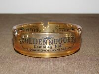 "VINTAGE CASINO 3 1/2"" WIDE GOLDEN NUGGET GAMBLING HALL LAS VEGAS GLASS ASHTRAY"