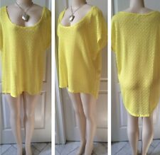 WOMENS PLUS TOP 1X NEW LACE TUNIC 14 16 XL NWT YELLOW CUTE FALL STEAL DEAL