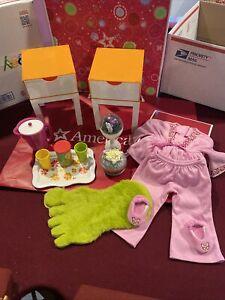 American Girl Julie's Room Accessories & Pajama set Very Rare Historical Set