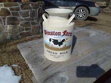 Winston Farms Inc. Tin Milk Container Replica Farm Dairy Decor Advertising