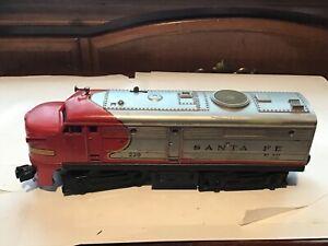 Vintage Lionel Postwar O Gauge 220 Santa Fe Diesel Serviced Runs Great