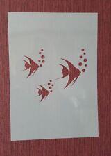 1994Schablone Fische Wandtattoo Möbel Leinwand Textilgestaltung Airbrush Stencil