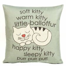 """18x18"""" Soft Kitty Home Decorative Throw Pillow Case Cushion Cover for Sofa Couch"""