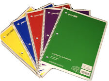 5 Pcs Lot Spiral Notebook Wide Ruled One Subject Note Pad School Supplies