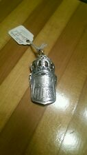 Antique Sterling King of Spain Coat of Arms Pendant