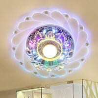 Crystal LED Modern Chandelier Ceiling Light Fixture Aisle Hallway Pendant Lamp