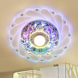 Crystal LED Modern Chandelier Ceiling Light Fixture Aisle Hallway Pendant Lamp