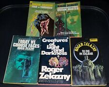 ROGER ZELAZNY LOT OF FIVE VINTAGE SCI-FI/FANTASY BOOKS 1960'S