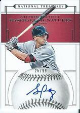 Stephen Piscotty /99 2016 National Treasures Auto Autograph Baseball Signatures