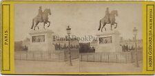 Statue Henri IV Pont Neuf Paris Stéréo par H. GuérardVintage albumine vers 1865